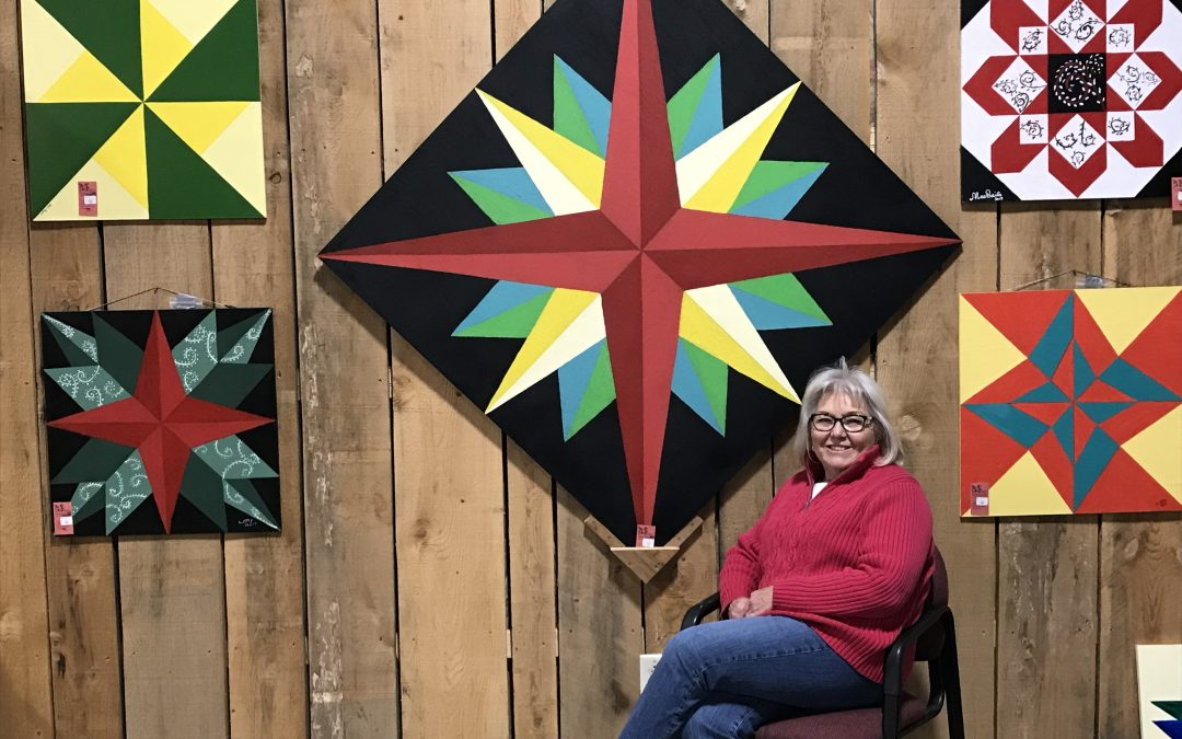 Barn Quilt Demonstration @ Farmers Market Today!