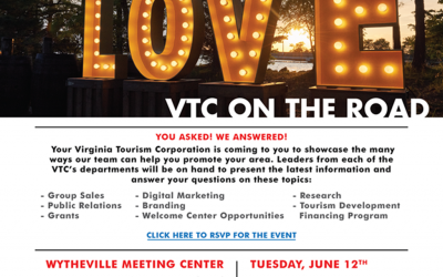 Virginia Tourism Corporation on The Road Series