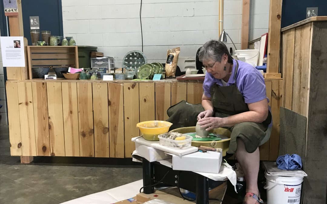 Ann Childress, Stonewall Pottery @ SW VA Farmers Market Today