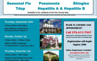 Free Vaccination Clinics – Call Now to Schedule or Register Online